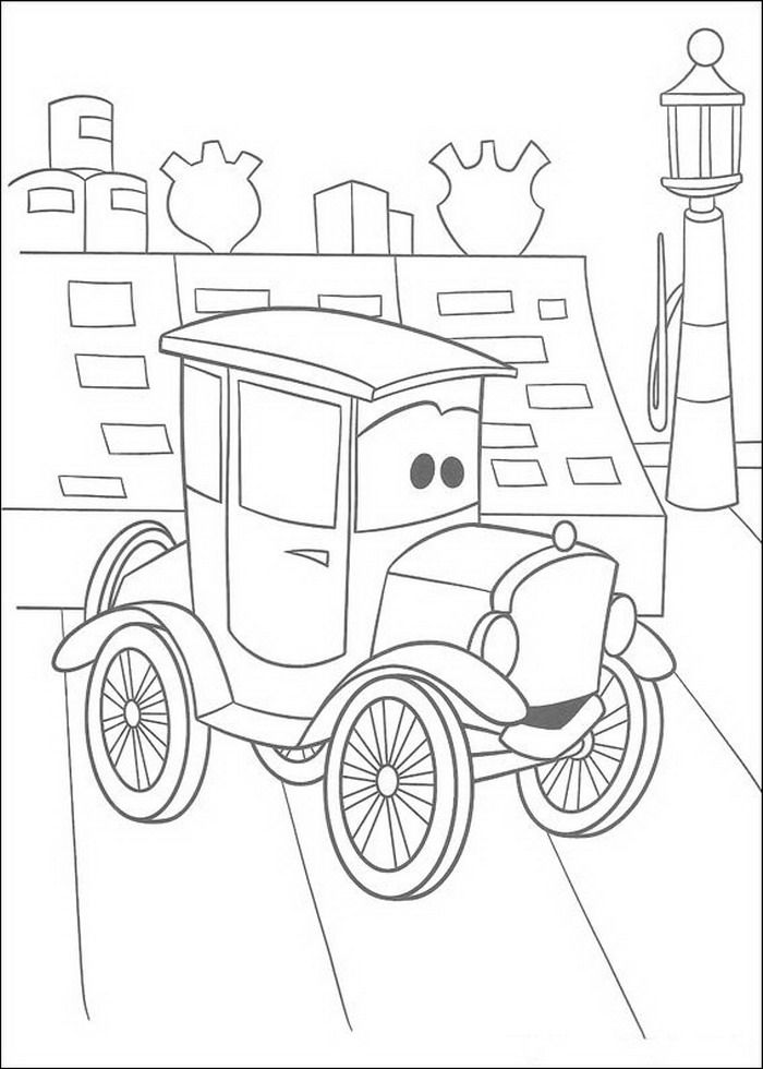 Kidsnfuncom  84 coloring pages of Cars Pixar