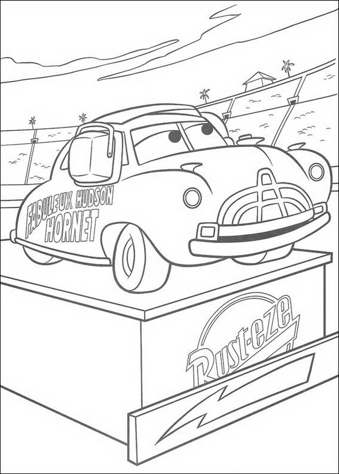 pixar movie cars coloring pages - photo#21