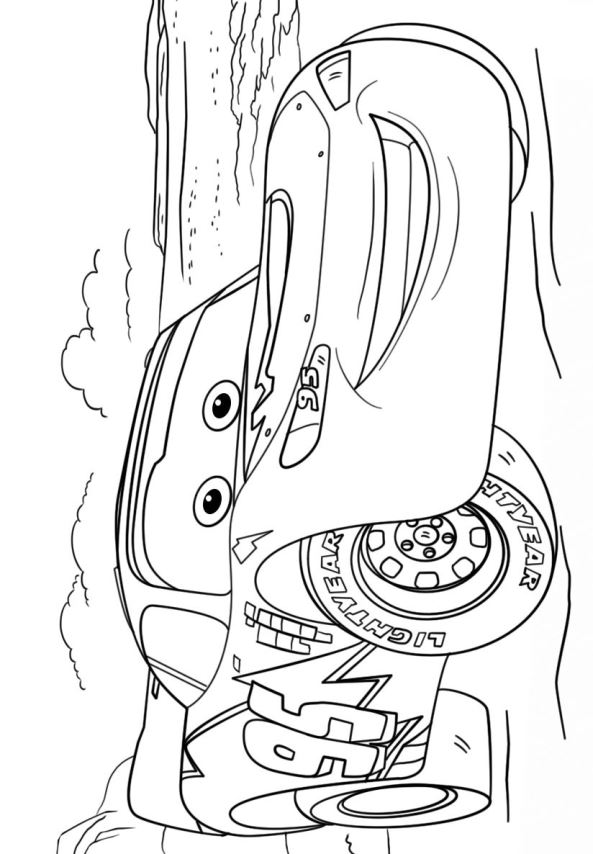 Kids-n-fun.co.uk | Coloring page Cars 3 lightning mcqueen