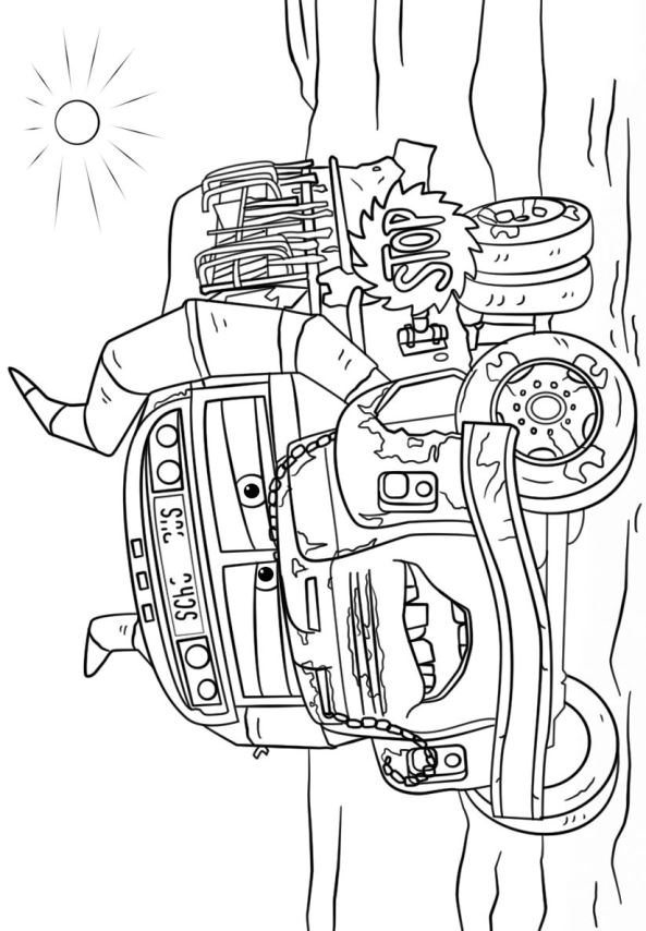 11 coloring pages cars 3