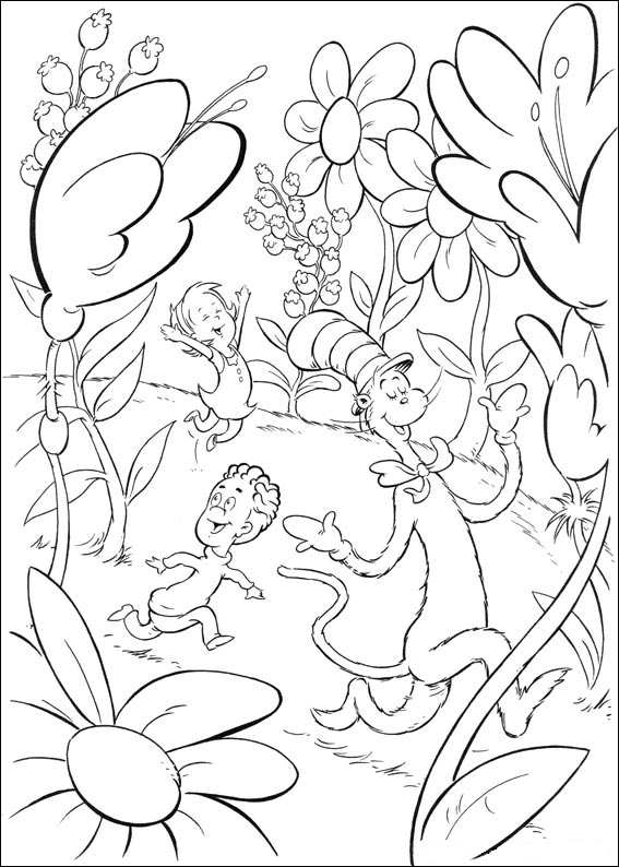 34 cat in the hat coloring pages - Cat In The Hat Coloring Pages