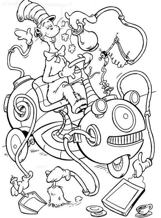 Kids n coloring page cat in the hat cat in the hat for Cat in the hat printables coloring pages