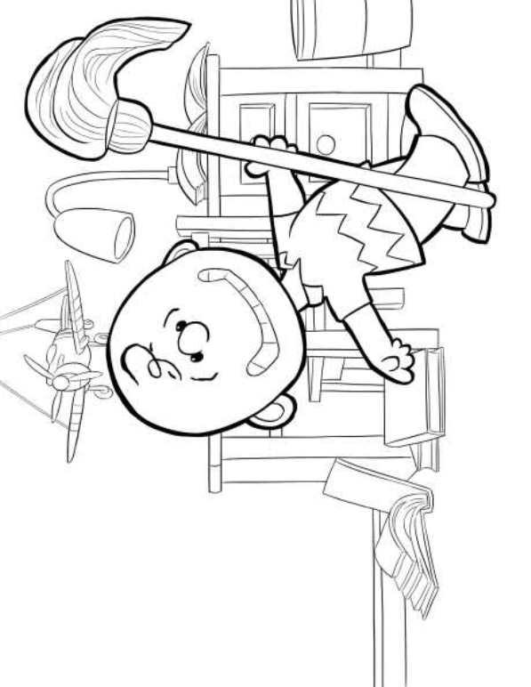 Kids-n-fun.com | 23 coloring pages of Charlie Brown