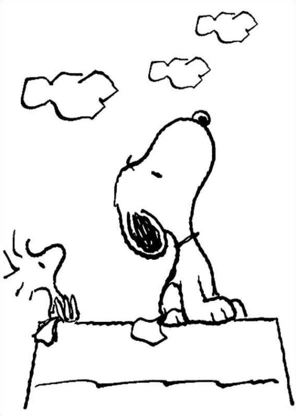 Kids-n-fun.com | Coloring page Charlie Brown peanuts snoopy