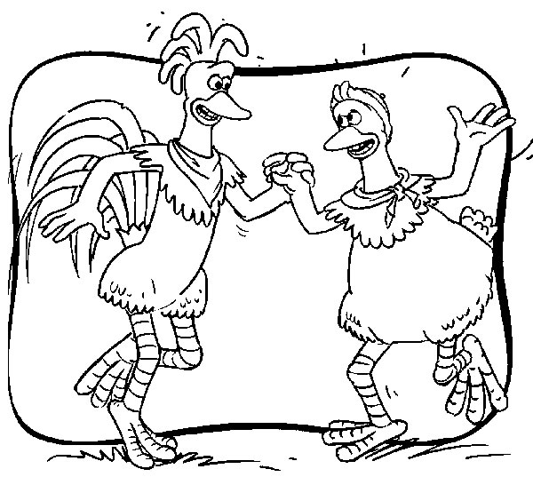Kids n funcom 46 coloring pages of Chicken Run