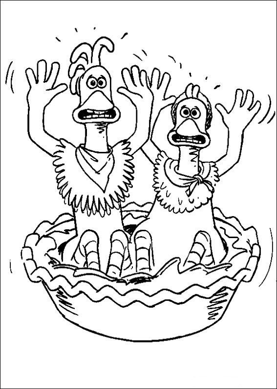 Kids n 46 coloring pages of chicken run for Chicken run coloring pages