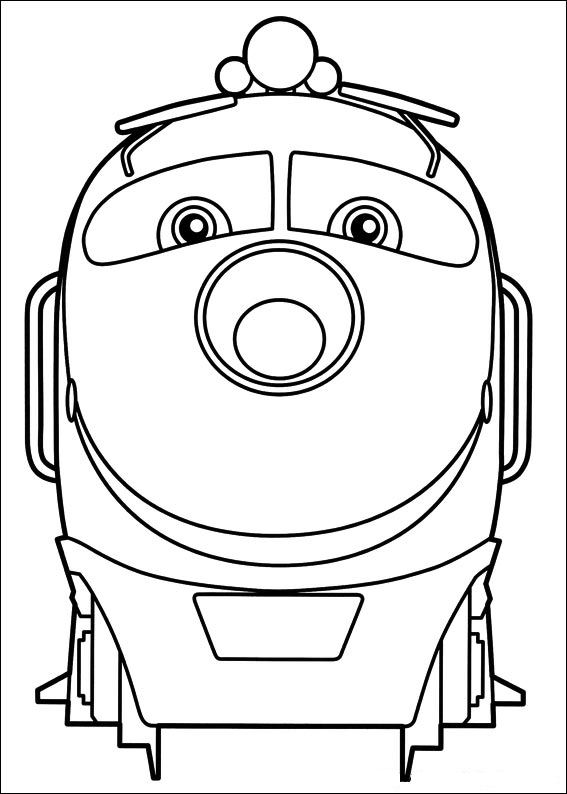 kids n funcom 24 coloring pages of chuggington - Chuggington Wilson Coloring Pages