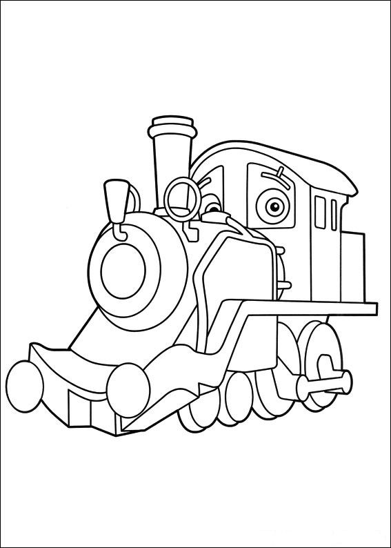 24 chuggington coloring pages - Chuggington Wilson Coloring Pages