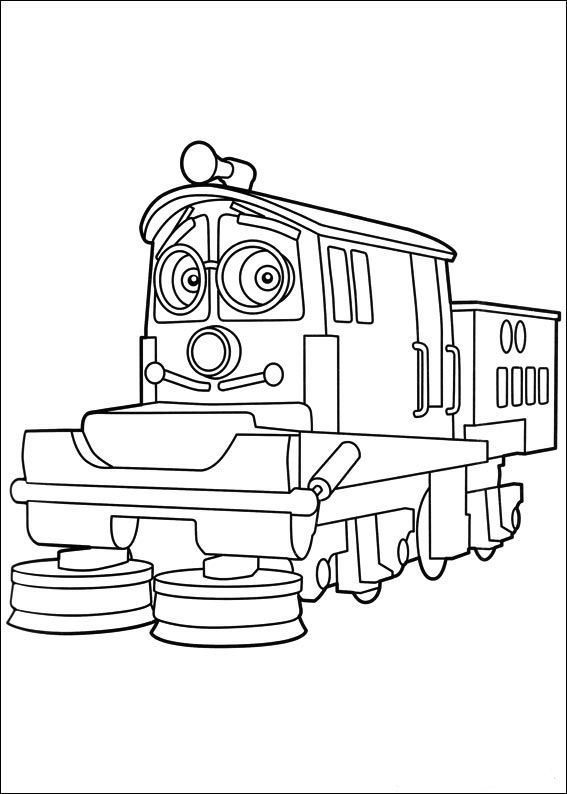 printable chuggington coloring pages for kids cool2bkids - Chuggington Wilson Coloring Pages