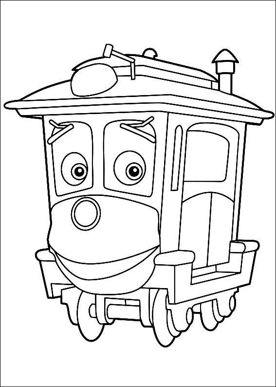 24 chuggington coloring pages - Chuggington Wilson Coloring Pages