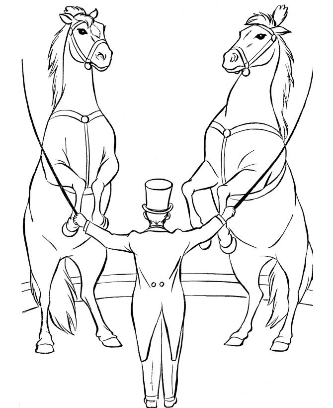 circus coloring pages for kids | Kids-n-fun.com | 39 coloring pages of Circus