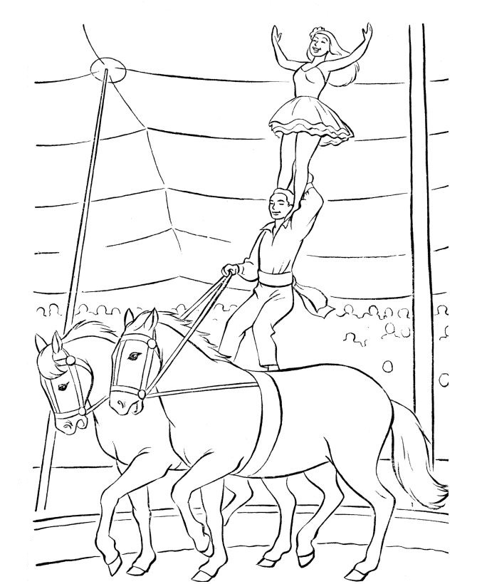 Kids-n-fun.com | 39 coloring pages of Circus