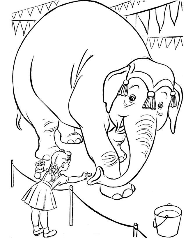 circus - Circus Coloring Pages
