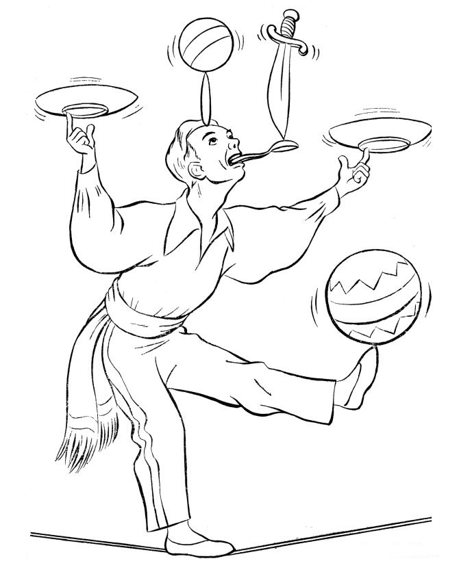 coloring pages of circus - photo#41