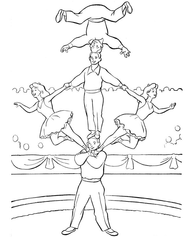 free downloadable circus coloring pages - photo#27