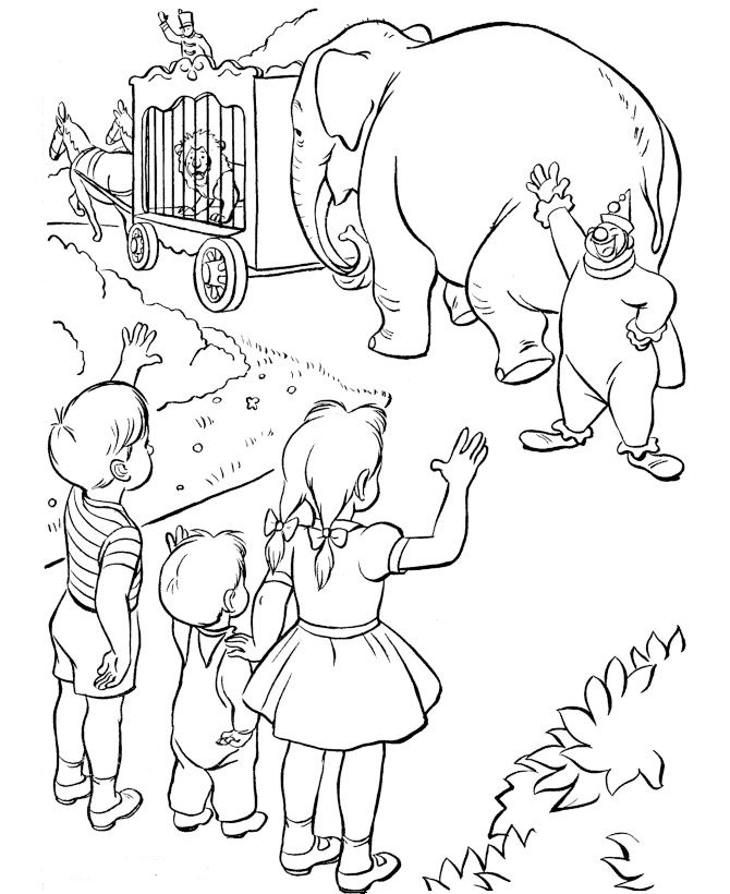 Kids-n-fun.com   39 coloring pages of Circus