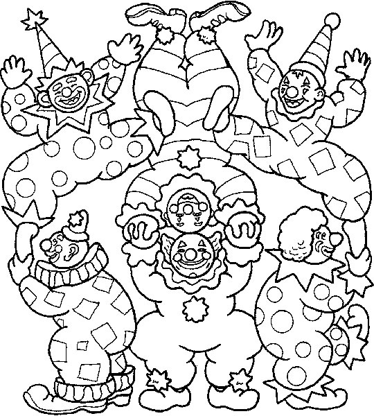 kidsnfun   coloring pages of circus, coloring