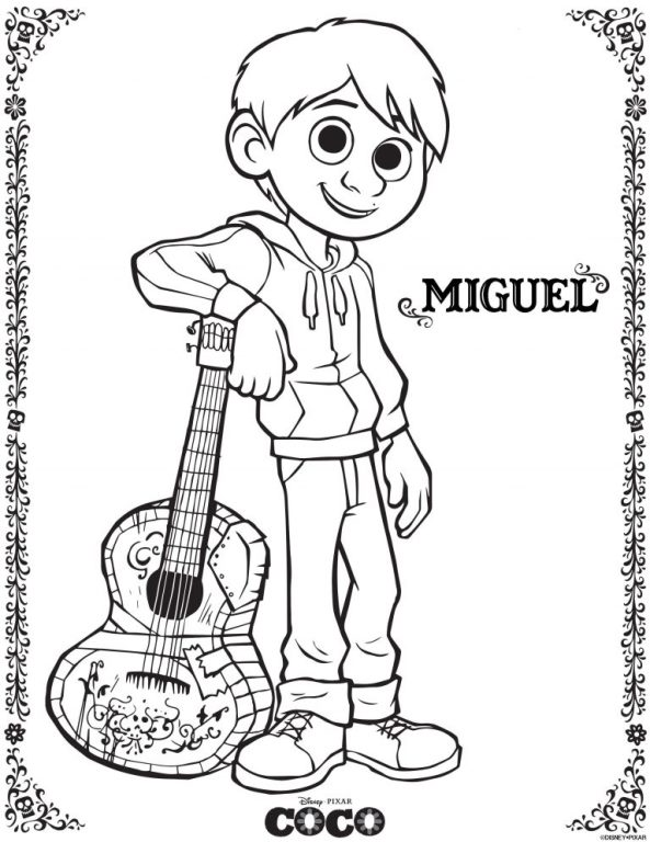 Kids Fun Coloring Pages Coco