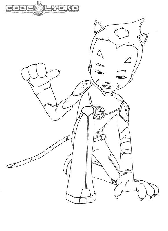 code lyoko coloring pages - photo#5