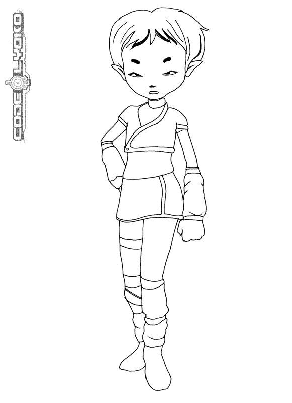 code lyoko coloring pages - photo#4