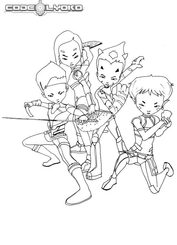 code lyoko coloring pages - photo#1