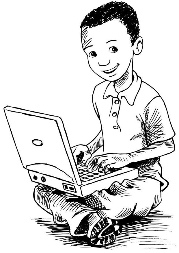 Kids-n-fun.co.uk | 24 Coloring pages of Computer