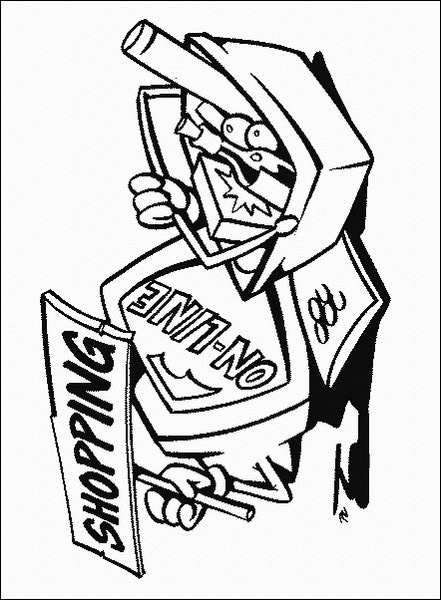 computer coloring pages for kids-#36