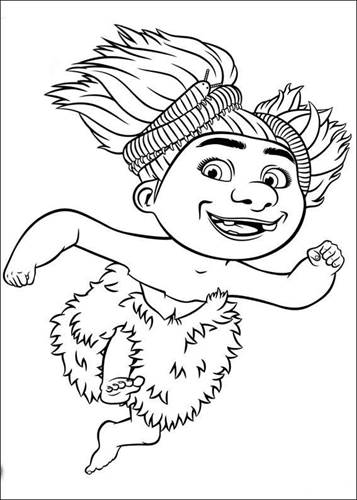 Kids N Fun Com 39 Coloring Pages Of Croods