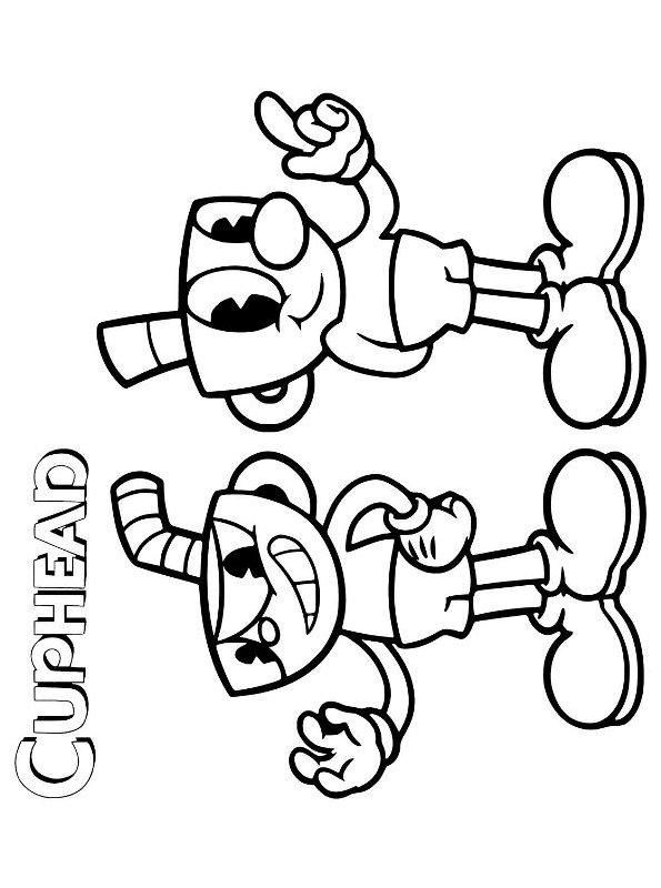 Kids-n-fun.com   Coloring page Cuphead Cuphead Mugman