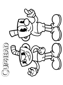 Kids-n-fun.com   23 coloring pages of Cuphead