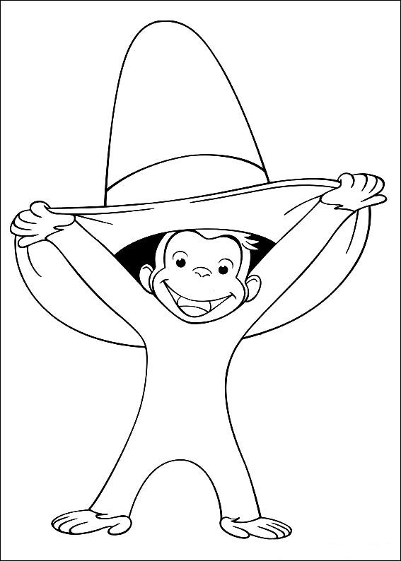Kids n fun com 30 coloring pages of curious george Curious George Coloring Pages Chef Pisgetti Curious George Fireman Coloring Pages curious george images free