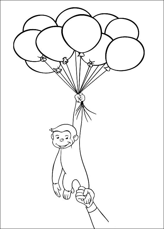 Kids N Fun Co Uk Coloring Page Curious George Curious George