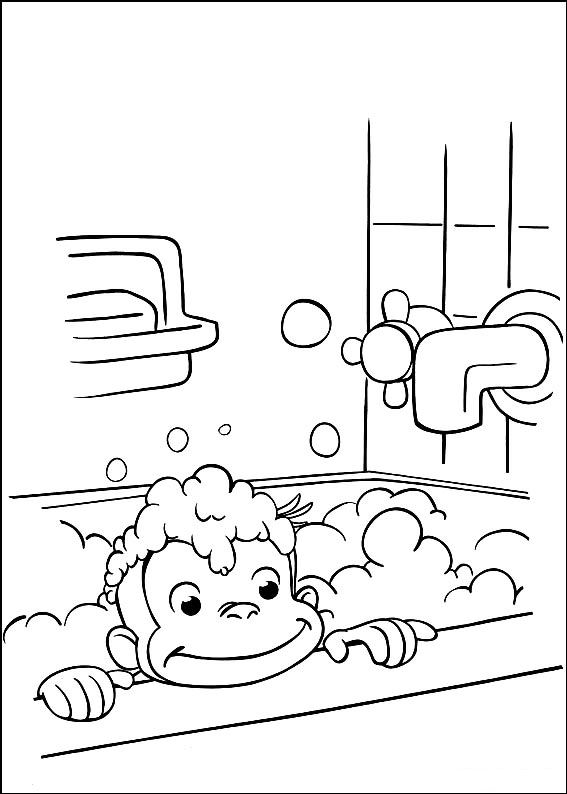 Kids n fun com 30 coloring pages of curious george Moana Coloring Pages Curious George Goes to School Curious George Coloring Page School