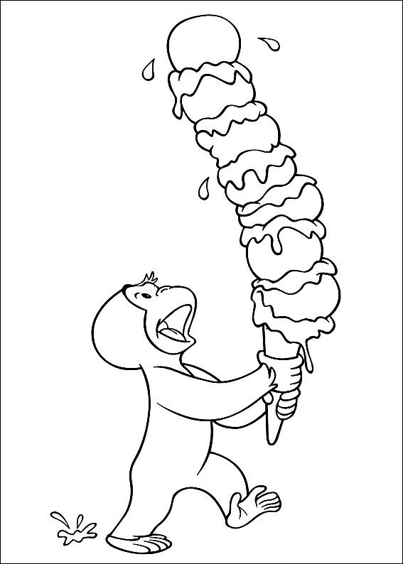 Kids n funcom 30 coloring pages of Curious George