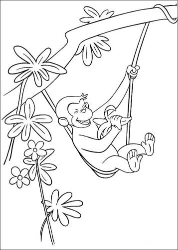 Coloring Pages Of Curious George