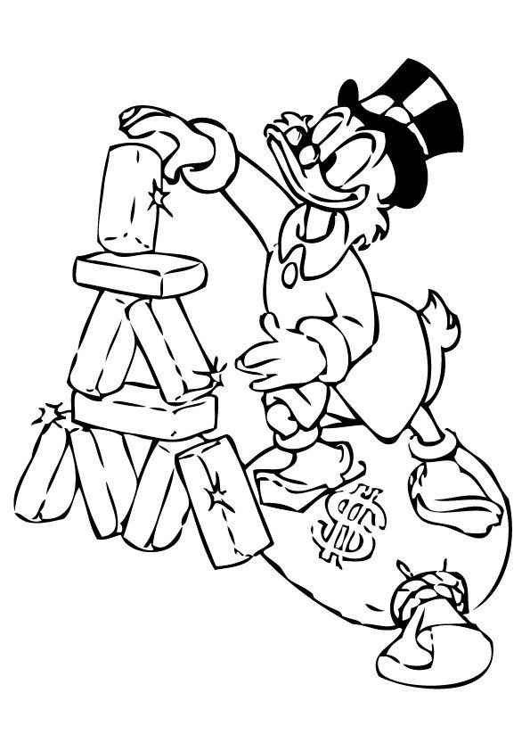 Kwik Kwek En Kwak En Donald Duck Kleurplaat Kids N Fun Com 24 Coloring Pages Of Scrooge Mcduck