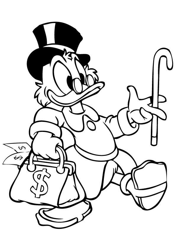 Kids N Fun Com 24 Coloring Pages Of Scrooge Mcduck
