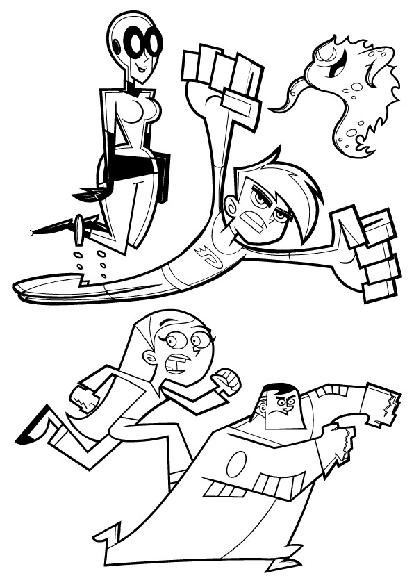 Kids n funcouk 9 coloring pages of Danny Phantom