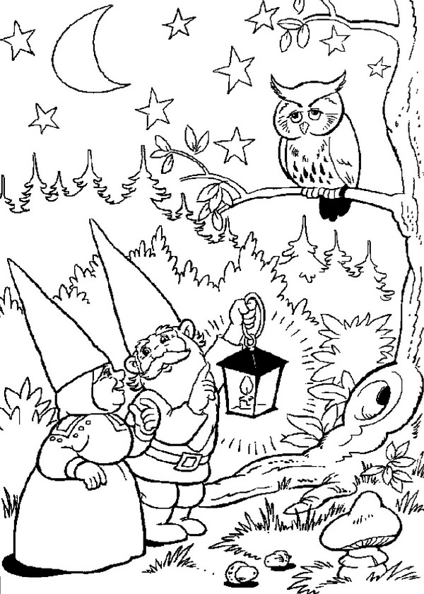 Kids N Fun Com 23 Coloring Pages Of David The Gnome