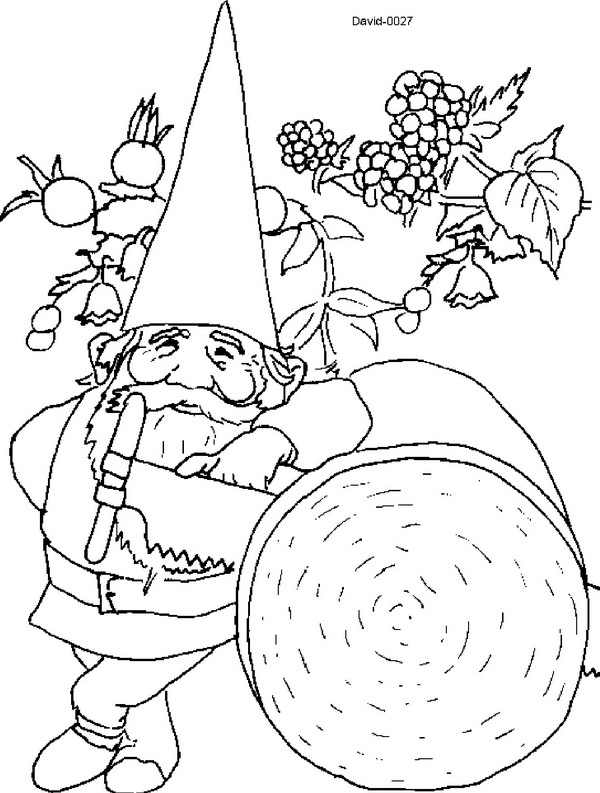kids n funcouk 23 coloring pages of david the gnome - Garden Gnome Coloring Pages