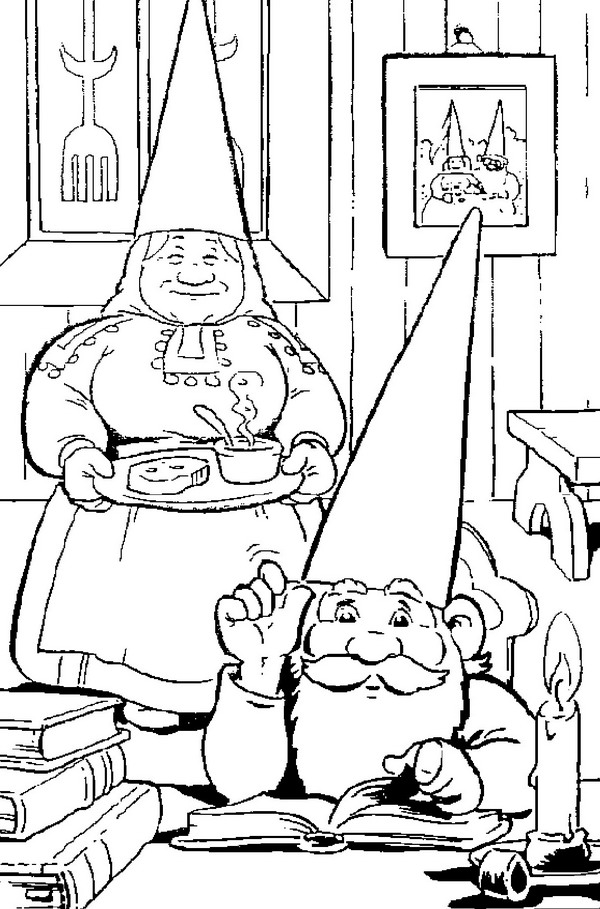 23 david the gnome coloring pages
