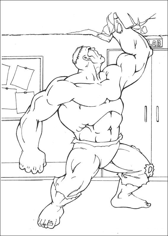 Kids n funcom 77 coloring pages of Hulk