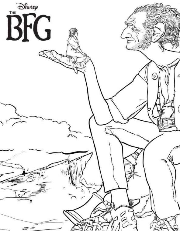 bfg coloring pages Kids n fun.| 4 coloring pages of BFG bfg coloring pages