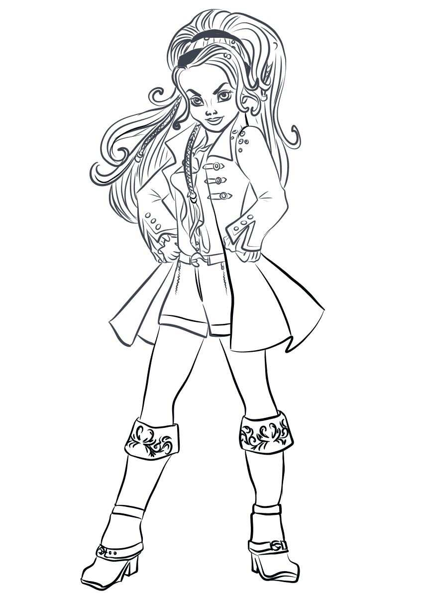 n 15 coloring pages of disney descendant