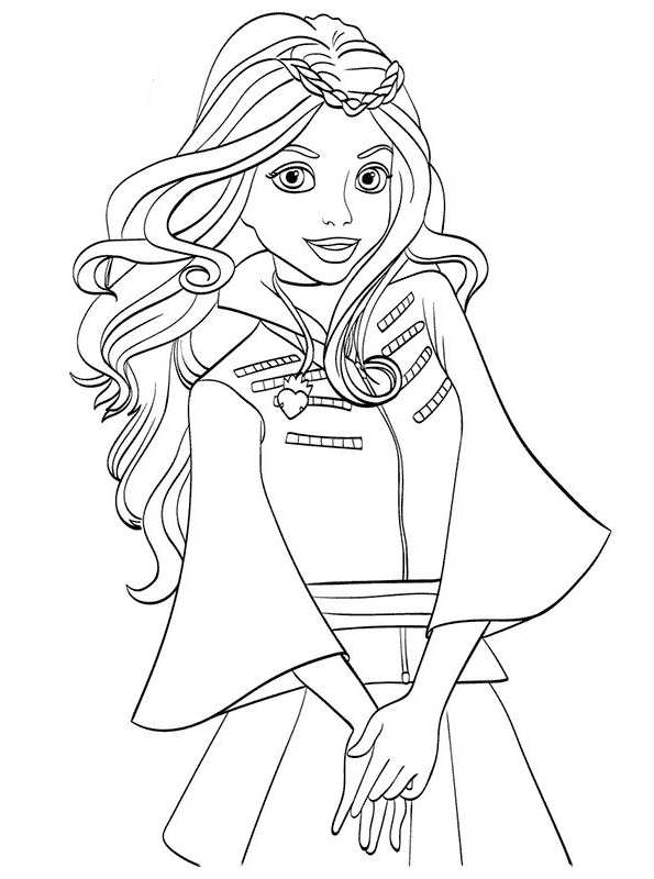 Kids-n-fun.com | 13 coloring pages of Disney Descendant Wicked World