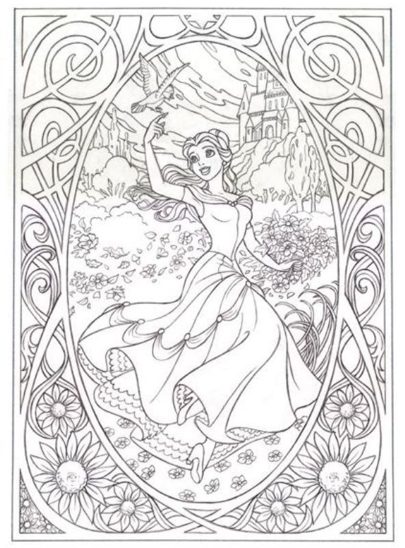 Kids-n-fun.com Coloring Page Disney Difficult Cinderella