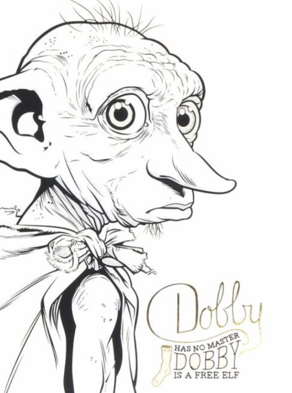 Kids-n-fun.com | Coloring page Dobby Harry Potter dobby ...