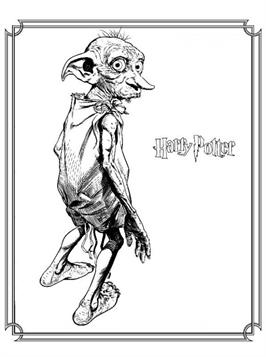 Kids N Fun Com 6 Coloring Pages Of Dobby Harry Potter