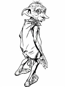 Kids-n-fun.com  6 coloring pages of Dobby Harry Potter