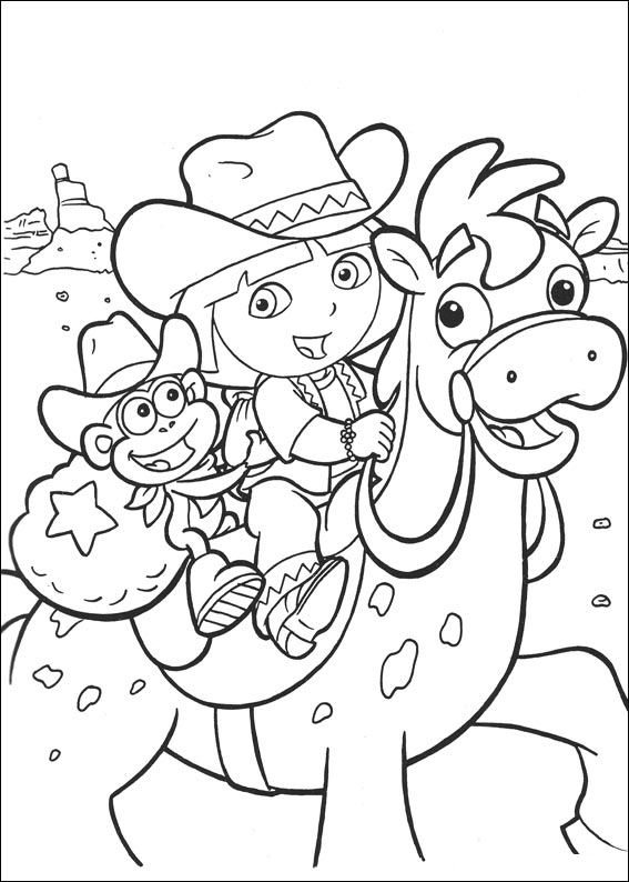 Kids N Fun Co Uk Make Personal Coloring Page Of Dora The Explorer